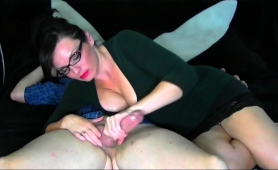big-breasted-milf-with-glasses-delivers-a-sensual-handjob