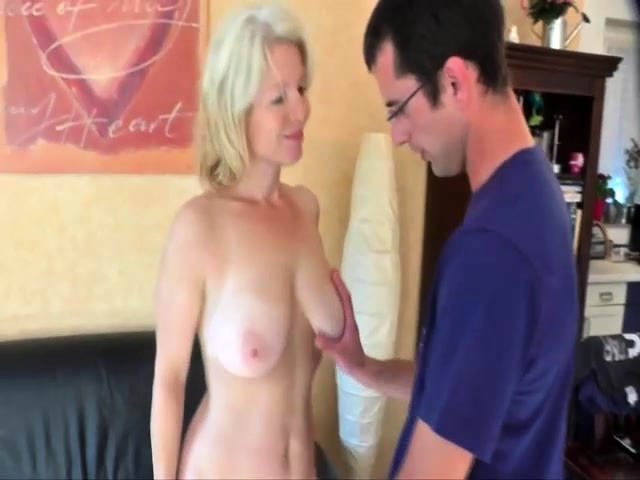 Blonde Milf Sucking Dick