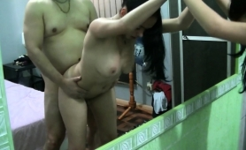 chubby-guy-has-two-fascinating-latinas-sharing-his-dick