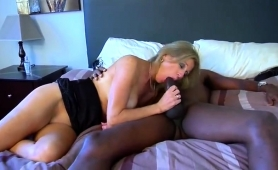 Stacked Blonde Milf Has A Black Bull Hammering Her Snatch