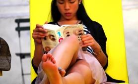 Beautiful Asian Teen With Fabulous Legs Upskirt In Public