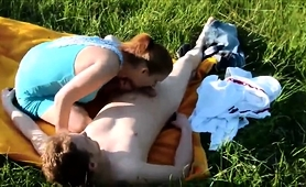 Buxom Young Babe Has Sex With Her Boyfriend In The Outdoors
