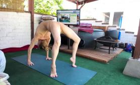 attractive-blonde-milf-enjoying-some-naked-yoga-on-webcam